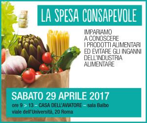 Convegno La spesa consapevole sabato 29 aprile 2017
